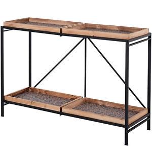 HOMCOM Table Console, Table d'Entrée, Style Néo-Rétro, Pliable, Structure