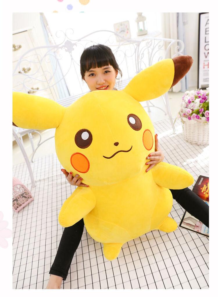 2019 Big Go Pikachu Plush Soft Doll Doll Doll Character Toy Stuffed Xmas Gift 65cm 7abf91