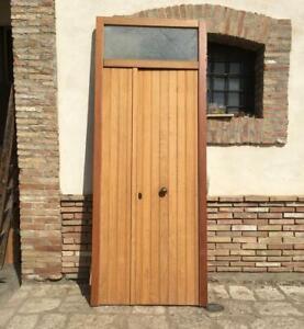 Porta Finestra A Due Ante.Vecchia Grande Porta A Due Ante In Legno Massello Portone Con