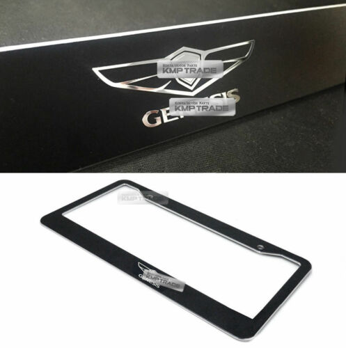 License Plate Aluminum Metal Black Frame Chrome Logo 1ea for HYUNDAI Genesis