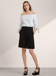 5c9c20c08659a8 NWT Aritzia Babaton Malik Blouse Top Shirt Off Shoulder Tie Sleeve ...