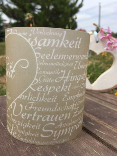 4 x Windlicht Hochzeit Tischdeko Tischlicht Deko mit Namen Datum Gastgeschenk