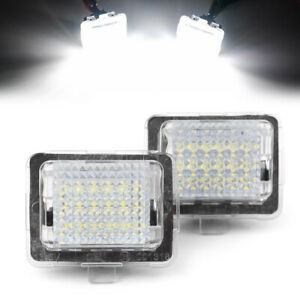 LED-White-Number-License-Plate-Light-for-Mercedes-Benz-W204-W221-W212-W216-W207
