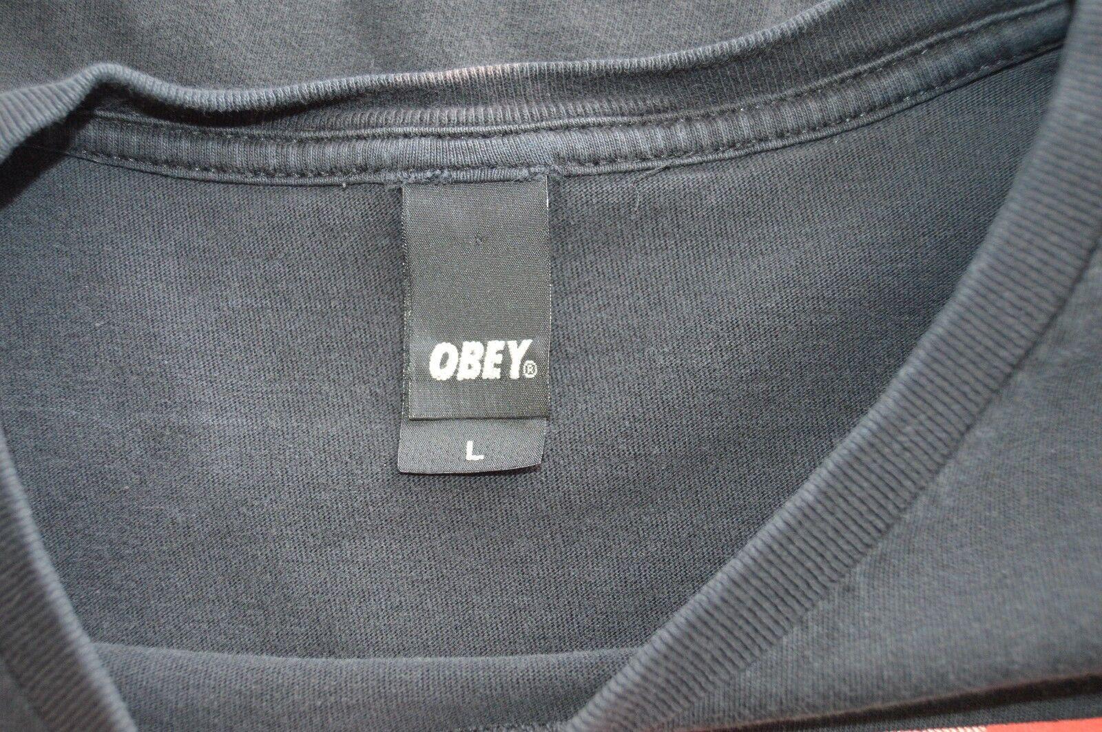 Obey Woman Military Cap Uniform Peace Dove Mens L Black