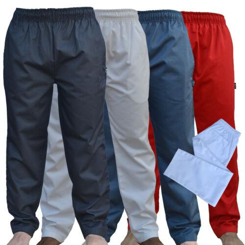 Chef Pantaloni Pantalone diversi colori buon prezzo Nero Navy per Cucina Catering