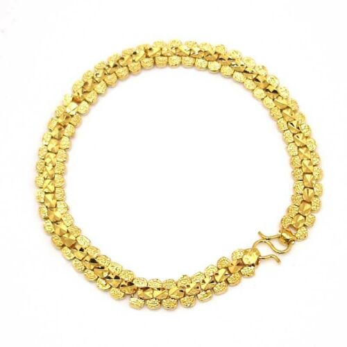 "18k or jaune rempli bracelet breloque 7.5/"" chaîne de 7 mm Lien GF Fashion Jewelry Cool"