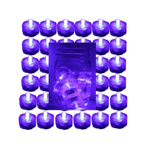 (36) PURPLE LED Submersible Underwater Tea lights for LIGHT up Vases!