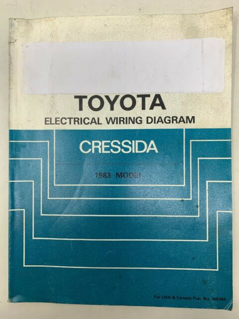 1983 Toyota Cressida Electrical Wiring Diagram Repair