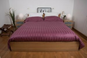 Double-duvet-set-4-Pillowcases-Jacquard-Cotton-Sheet-under