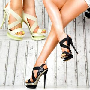 Neu-Designer-Damenschuhe-Sexy-High-Heels-Party-Pumps-Plateau-Sandalen-Schnallen