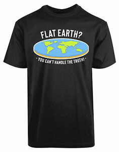 Flat-Earth-New-Mens-Shirt-Amazing-World-Map-Unique-Stylish-Summer-Casual-Top-Tee
