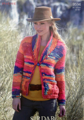 Sirdar Indie Knitting Pattern for Jacket 9594