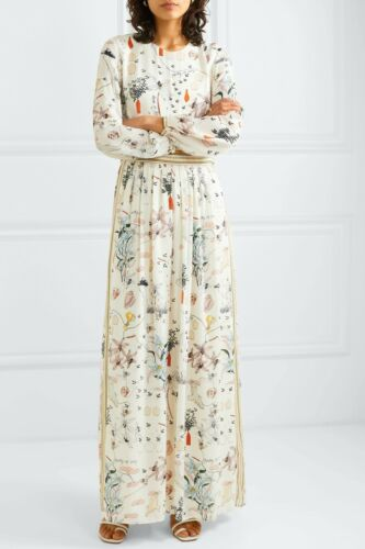 Tory Burch Maxi Dress 14  Poetry of Things Silk Fl