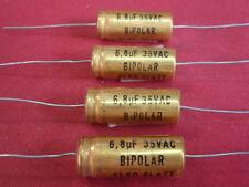 SELTEN! KONDENSATOR 6,8µF 35/100V  TONFREQUENZ bipolar D=12x30mm   4x     25148
