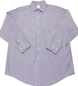 Mens-Brooks-Brothers-size-16-2-3-Button-Down-Dress-Shirt-L-S-NonIron-Striped