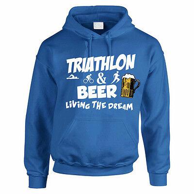 Bike Hoodies Run Gift Idea Men/'s Hoody TRIATHLON Fun Sport Swim