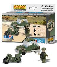 Best Lock building blocks 55 pc set Army vehicle, motorbike & soldier # BL 70055
