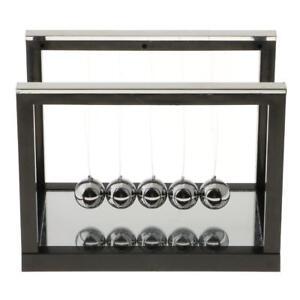 Newton-Cradle-Billiard-Balance-Ball-Fisica-Ciencia-Pendulo-Juguete-Negro