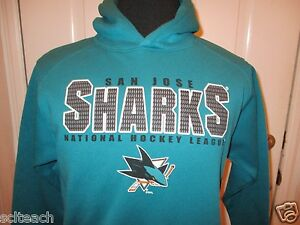 5a13122b4 Brand New with Tags Youth Sizes San Jose Sharks Teal Hooded NHL ...
