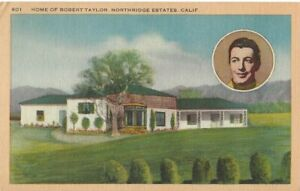 ROBERT-TAYLOR-HOME-OF-ROBERT-TAYLOR-NORTHRIDGE-ESTATES-CALIFORNIA-POSTCARD