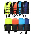 Life Jacket Vest Adult PFD Foam 4 colors Whistle Fully Enclosed Size L XL XXL