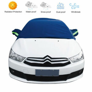 La-mitad-superior-Cubierta-Impermeable-Para-Coche-Transpirable-Parabrisas-SUV-Proteccion-Anti-Nieve
