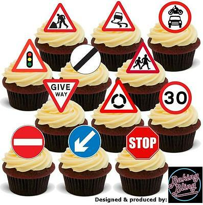 Standups 12 Edible Standup Premium Wafer Cake Toppers LEARNER DRIVER L-PLATE