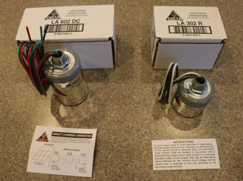 Wind Delta LA302R and LA602DC Lightning Arrestor AC Residential DC Solar