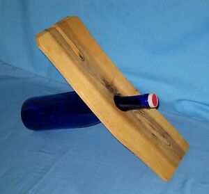 Modern/Contemp<wbr/>orary Wood Slice Wine Bottle Holder/Rack Countertop!
