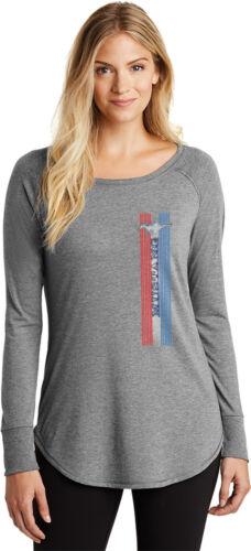 Buy Cool Shirts Ladies Ford Mustang T-shirt Pony Logo Tri Bar Tri Long Sleeve