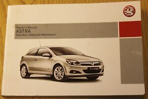 genuine vauxhall astra owners manual handbook 2007 2010 book ebay rh ebay co uk 2013 Vauxhall Astra vauxhall astra user manual 2010