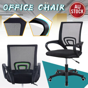 Office Chair Gaming Computer Mesh Chairs Executive Mid Back Grey Black Au Ebay
