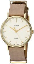 Timex Women's Fairfield Quartz Brass Case/Taupe Leather Watch TW2P984