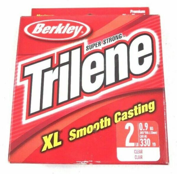 Berkley XLVS2-15 2 Lb Trilene XL Monofilament Line 330 Yds Clear Smooth Casting