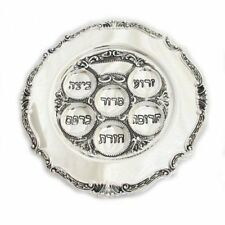 Passover Pesach Seder Plate Silver Plated Kosher NEW