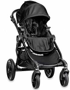 Baby-Jogger-City-Select-All-Terrain-Single-Stroller-Black-Frame-Black-NEW