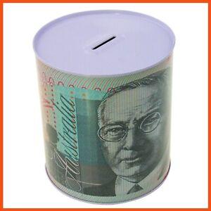 48 X Medium Australian Dollar Note Money Tin Box | Piggy Bank Coin Boxes Savings