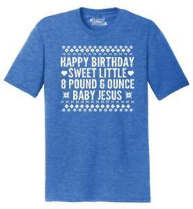 07e1e2e8 Mens Happy Birthday Sweet Baby Jesus Funny Ugly Sweater Christmas ...