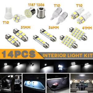 New-14pcs-White-LED-1157-T10-31-36mm-Interior-Map-Dome-License-Plate-Light-Kit