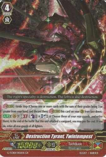 DESTRUCTION TYRANT TWINTEMPEST G-TCB01//002EN GR RARE CARDFIGHT VANGUARD CARD