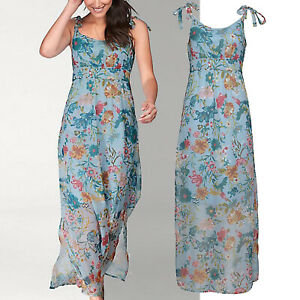 genial-Gr-42-XL-MAXIKLEID-Maxi-Kleid-Bluemchen-BOHO-GOA-blau-pastell-Sommerkleid