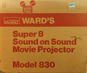 Vintage-Montgomery-Wards-Model-830-Super-Eight-Sound-Movie-Projector-Auto-Load