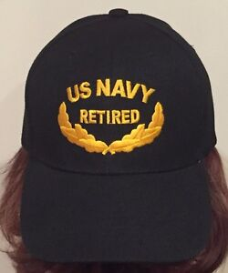 US NAVY RETIRED BASEBALL CAP