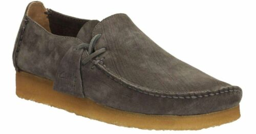 Clarks Originals Mens Wallabees Lugger Charcoal Lea , L Shape UK 7,8,9 G