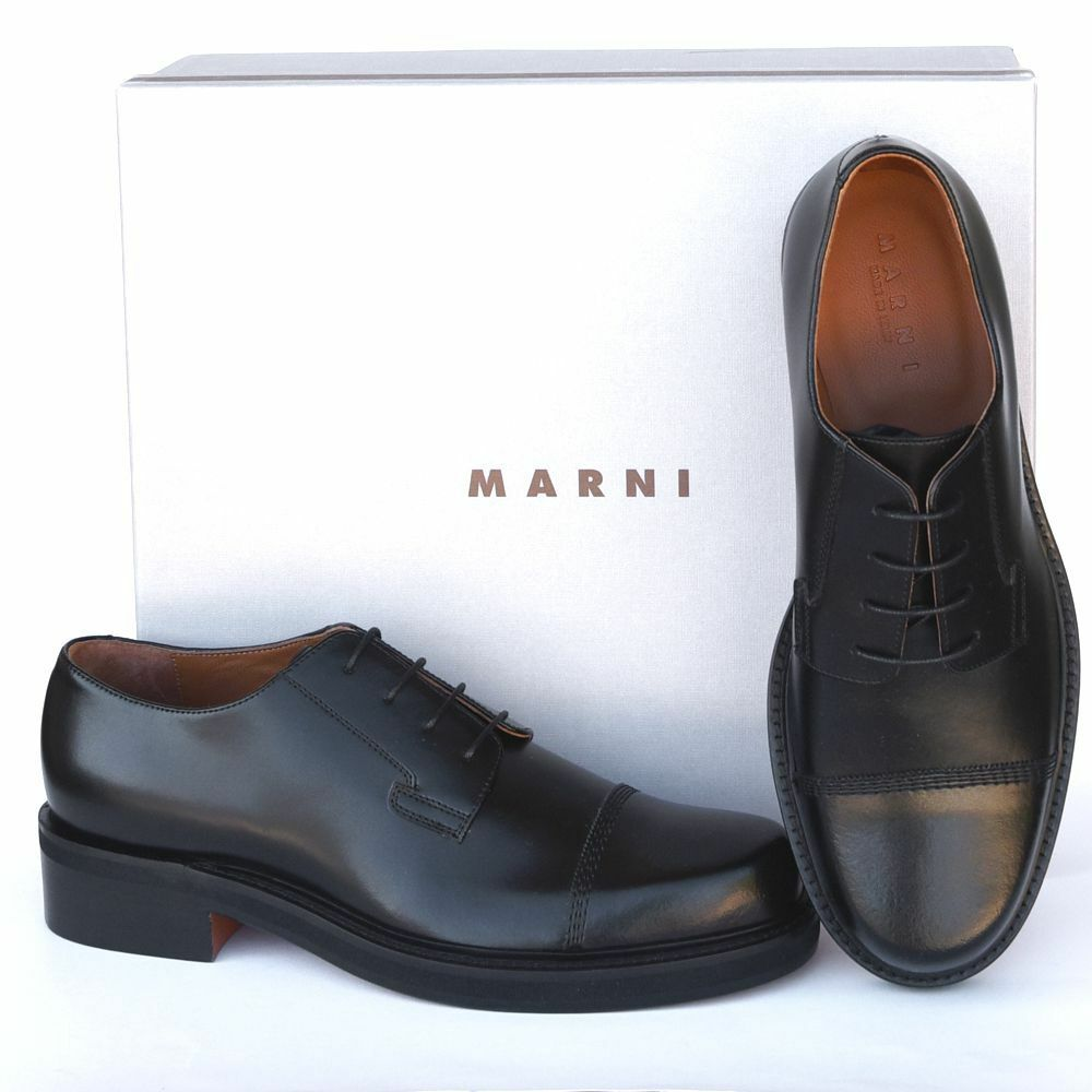 MARNI New sz 45 US 12 775 Authentic Designer Mens Leather Oxfords Shoes black