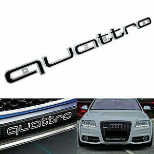 Audi-QUATTRO-Grill-Badge-Logo-Emblem-A3-A4-A5-A7-RS4-RS5-RS6-RS7-S3-Q5-Q7-Black