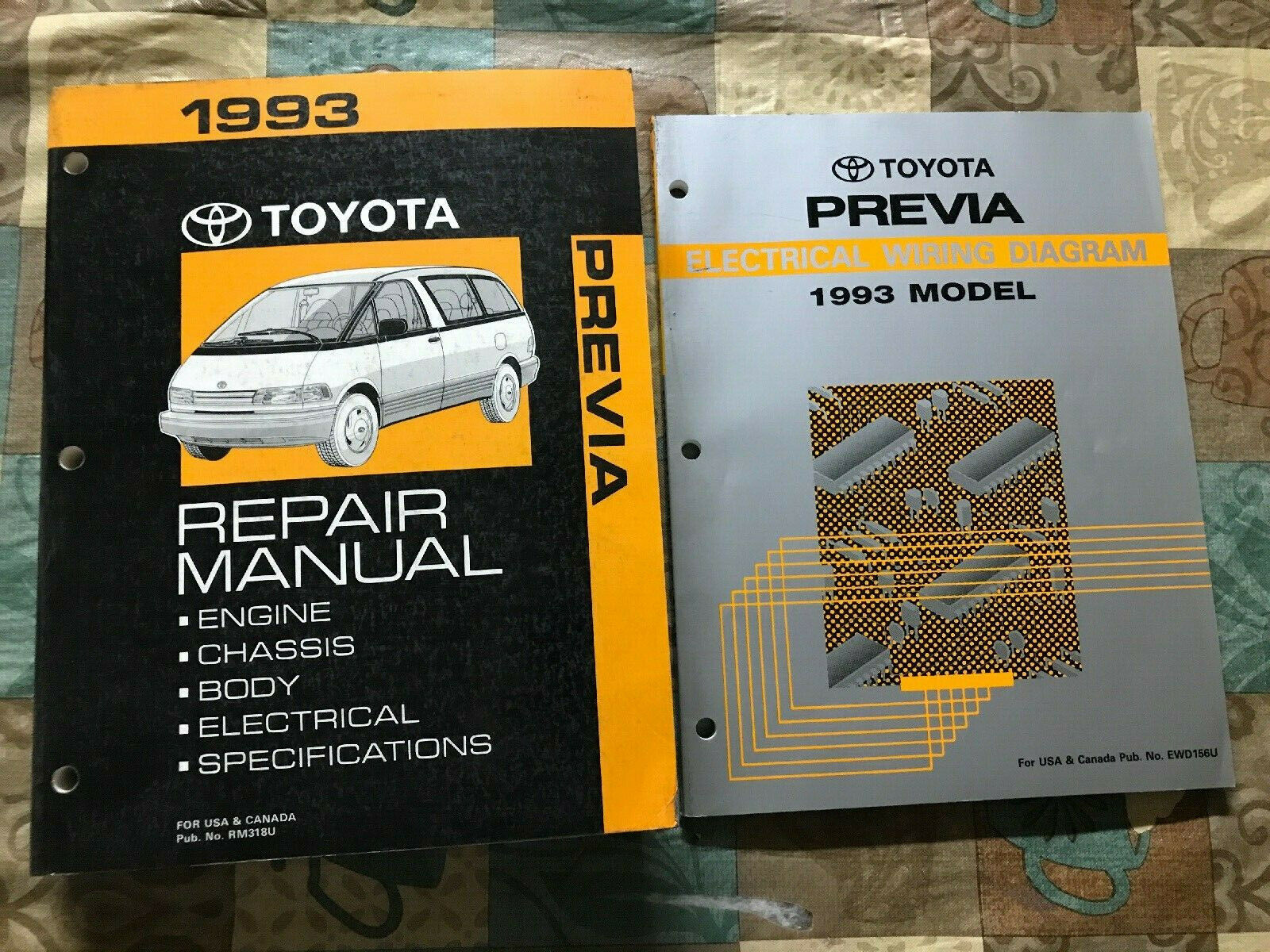 Stupendous Toyota Previa Repair Manual Wiring Diagram 1993 Dealership Service Wiring Digital Resources Hetepmognl