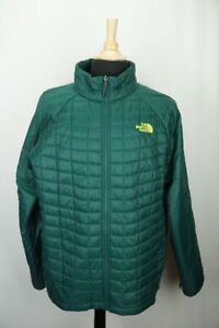 The North Face Thermoball Green Puffer Quilted Mens Jacket Sz XL