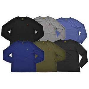 908eea98b Polo Ralph Lauren Classic Fit T-shirt V-neck Mens Long Sleeve Tee ...