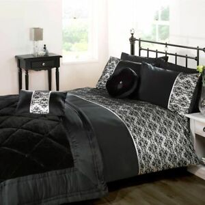Image Is Loading Single Throw In Black Lace Bed Throw Blanket